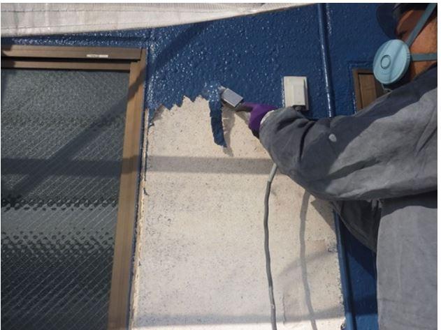 川口市 超音波剥離で膨れた塗装を一網打尽!!