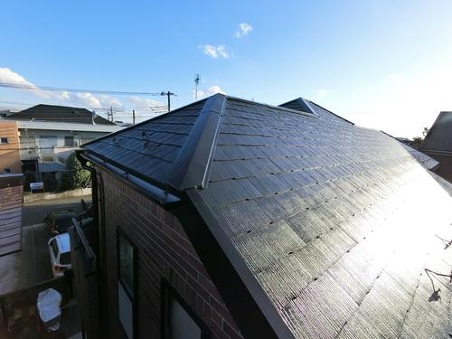 屋根フッ素塗装&ウッドフェンス塗装!ご近所さんと同時施工で お得に塗り替え♪