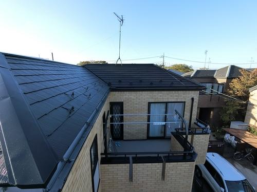 屋根フッ素塗装!ご近所さんと同時施工でお得に塗り替え♪