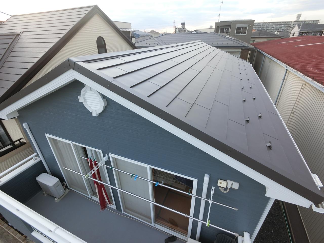 屋根GL鋼板カバー工法と外壁シリコン塗装!THEイメチェン!!