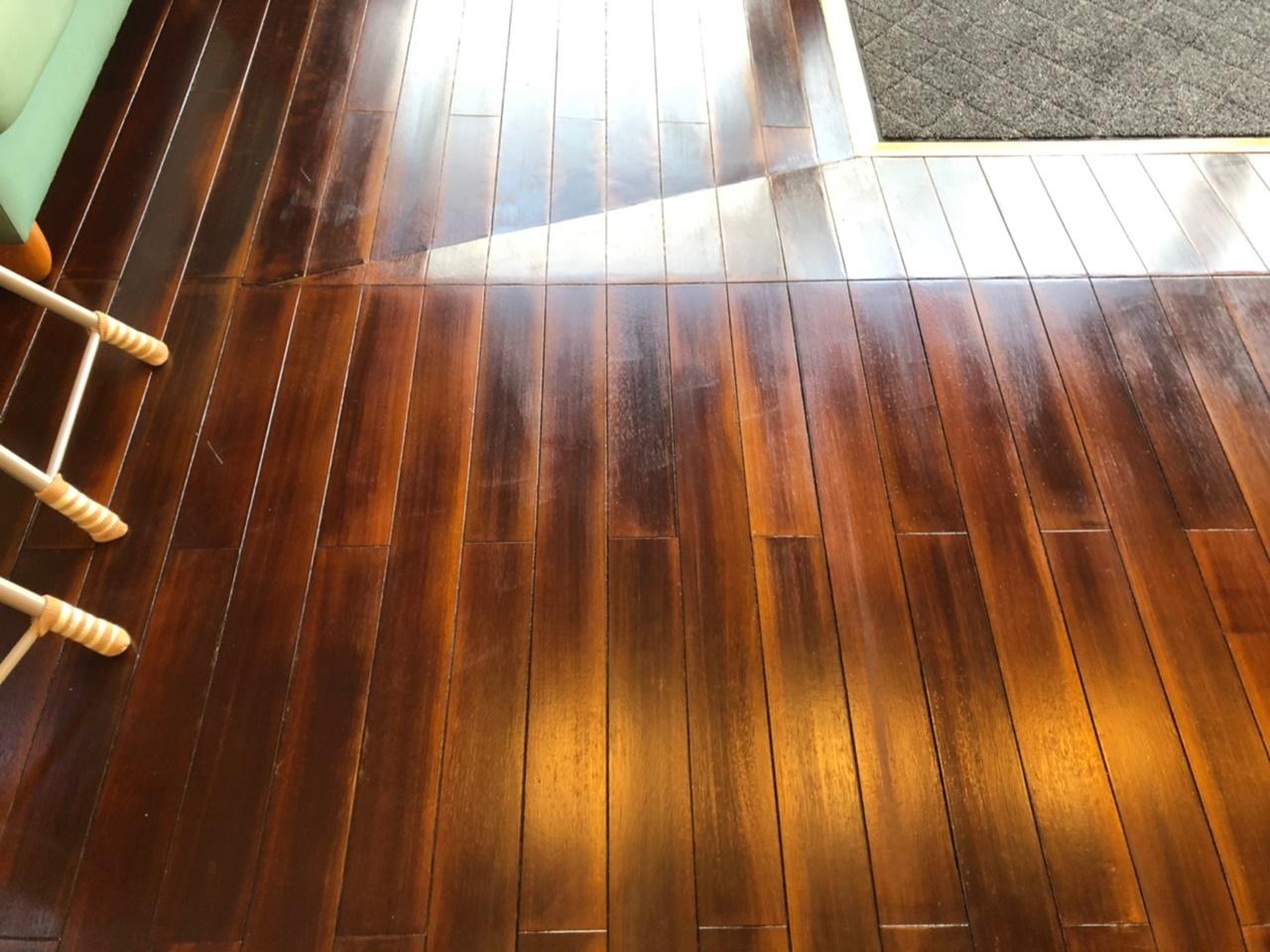 木目を生かしたフローリング塗装!速乾で1日間で施工完了!