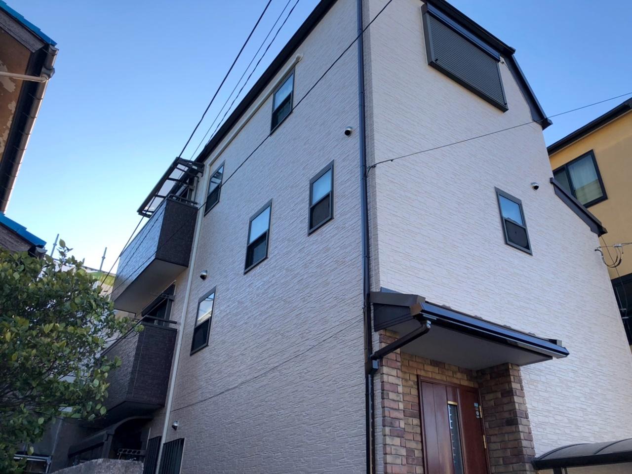 屋根GL鋼板カバー工法&外壁シリコン塗装!